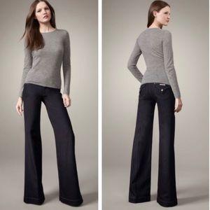 HUDSON Dark Wash Retro Style Wide Flare Leg Jeans